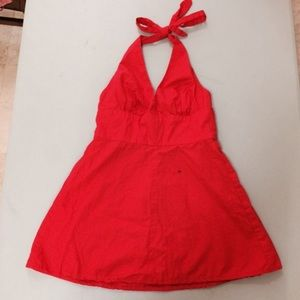 Sexy Red Mini Halter Dress